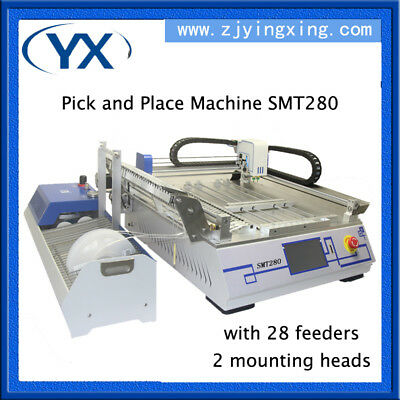 SMT Pick and Place Machine,2 Heads+28 Feeders+Juki Nozzle+Vision System