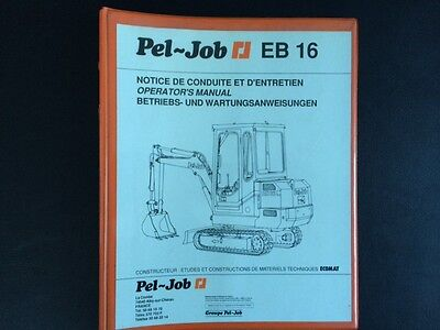 #023 Pel Job EB16 Bedienungsanleitung operation manual