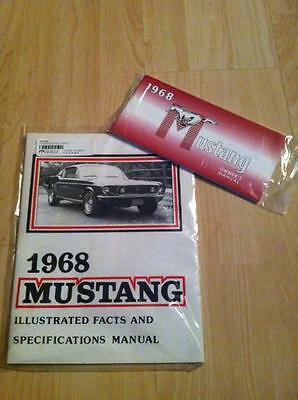 Bedienungsanleitung & Daten Buch 1968 Ford Mustang Coupe, Cabrio, Fastback