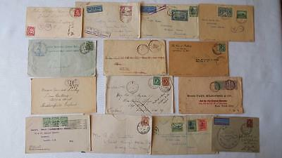 Group of 14 Postal Stamp Covers - Jamaica & West Indies