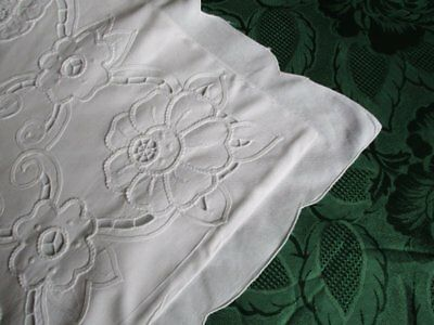 Cushion Cover Embroidery Decoration - White - Unused
