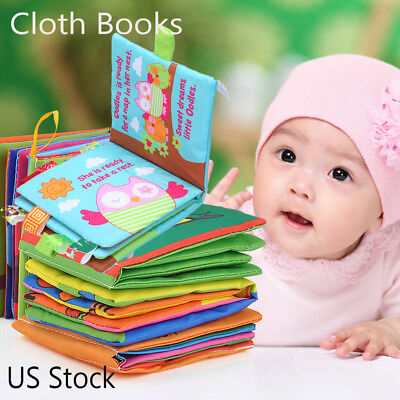 Intelligence Development Cloth Bed Cognize Book Educational Toy For Kid Baby US
