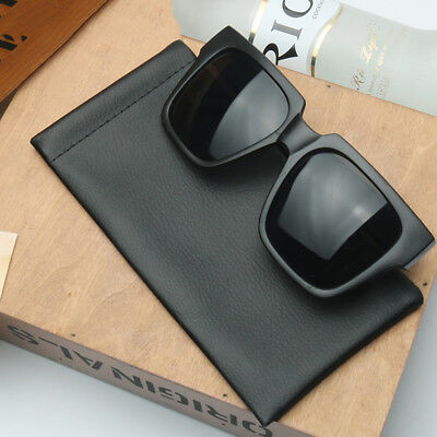Leather Sunglasses Glasses Sleeve Case Soft Specs Reading Slim Mouth Design