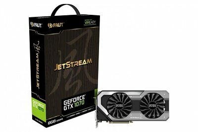 "Palit NE51070015P2J GeForce GTX 1070 JetStream 8GB GDDR5X HDMI DVI ""600489"""
