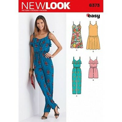 New Look Misses' Jumpsuit or Romper and Dresses Sewing Pattern 6373