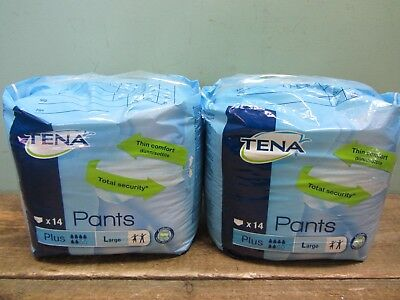 2 Packs of Tena Comfort Plus Incontinence Pants Size Large