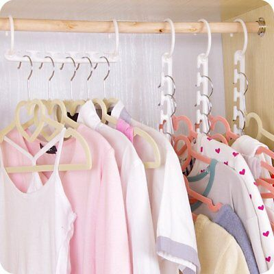 Space Saver Wonder Magic Clothes Hangers Closet Organizer Hooks Racks CU