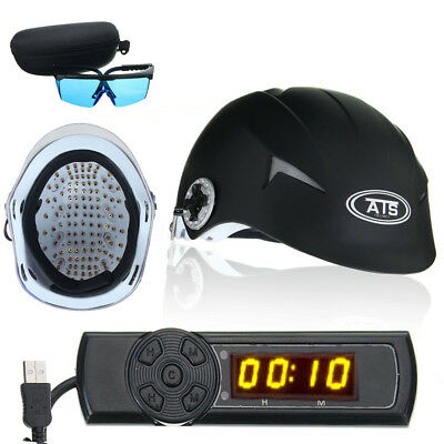 128 Diodes LLLT Laser Cap Hair Loss Treatment Regrowth Helmet Therapy With Timer