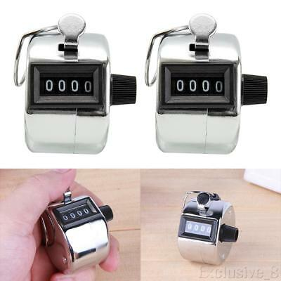 2PCS Golf Hand Held Tally 4-Digit Number Clicker Sport Counter Counting Recorder