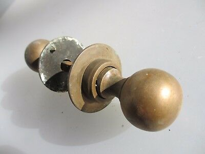 Antique Bronze Door Knobs Handles Plates Vintage Old Edwardian Reclaim