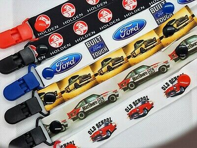 HOLDEN / FORD / CARS / CAR  Dummy Clip / Dummy Clips / Pacifier Clips / Chain
