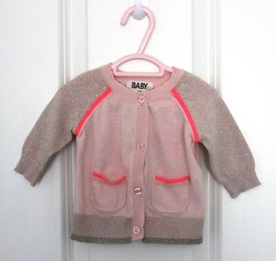 Baby Girl Size 00 #67 - Cotton On Pink Cardigan
