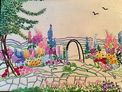 Vintage Embroidered Picture