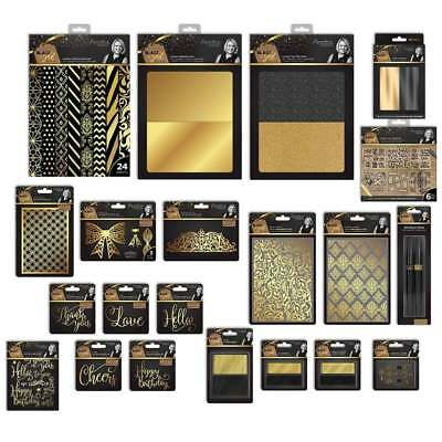 Crafters Companion Sara Signature Collection BLACK & GOLD CardMaking