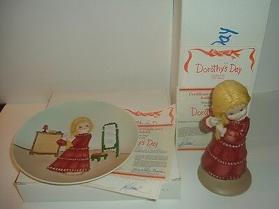 1980 Dorothys Day Bill Mack 1st Issue Brand New Day Plate Figurine w Boxes COAs