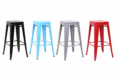 FoxHunter 2/4 Metal Tolix Vintage Retro Bistro Bar Dining Stool Chair MDS01 Pair