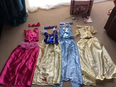 Disney Princess Fancy Dress Dressing Up Costume Bundle Age 5-6 Aurora Belle Cind