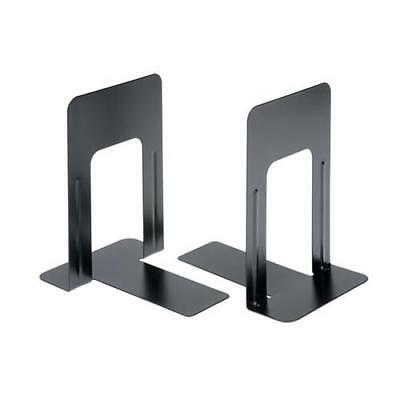 5 Star Office Book Ends Metal Heavy-duty 180/224mm Black (Pack 2)