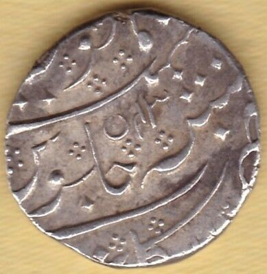 French India Silver One Rupee Ry 43 Ah 1221 #j40