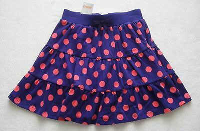 Gymboree 7 Girls Falling For Feathers Purple Polka Dot Skort Tiered RV $25 NEW