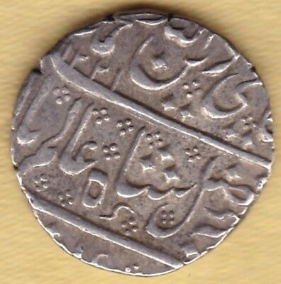 Indo French Silver Rupee Ah 1221 Ry 43 #d64