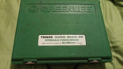 "Greenlee 7906SB Quick Draw 90 Hydraulic Punch Driver 1/2""-2"" knockouts slugbuste"