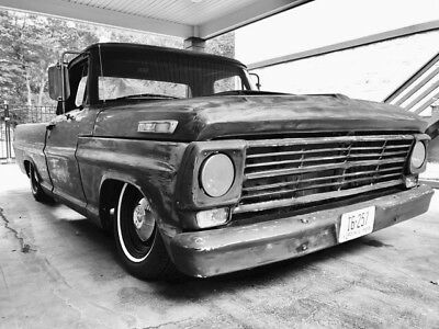 1969 Ford F-100 Ranger inister Rat Rod Bagged F-100 Patina 302 3-Speed Driver