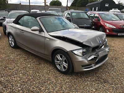 BMW 120 2.0 i SE CONVERTIBLE 2008 08 REG DAMAGED REPAIRABLE SALVAGE