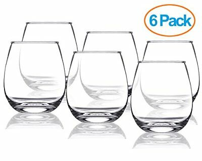 905a205f673b Chef s Star 15 Ounce Stemless Wine Glasses Set Ideal for All Occasions 6  Pack