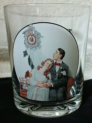 Saturday Evening Post Norman Rockwell Glassware Collection Courting at Midnight