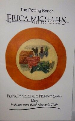 Erica Michaels, May, The Potting Shed, Punchneedle Penny Series - Fabric Incl