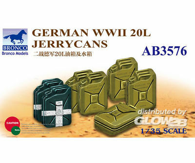 Bronco Models AB3576 German WWII 20L Jerrycans in 1:35