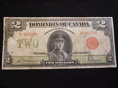 INV #S46 Canada 1923 2 Dollars F-VF Red Seal