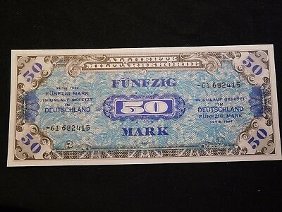 INV #S49 Germany 1944 Allied Military Note 50 Marks GEM CU