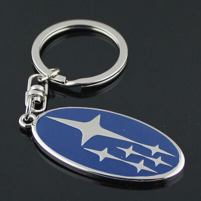 Blue Metal Key Chain Car Logo Keyring Pendant Ring Accessories Keychain Subaru