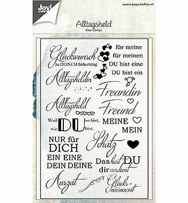 Motivstempel Clearstamp Alltagsheld Text Sprüche Deutsch DIY JoyCrafts 6410/0451