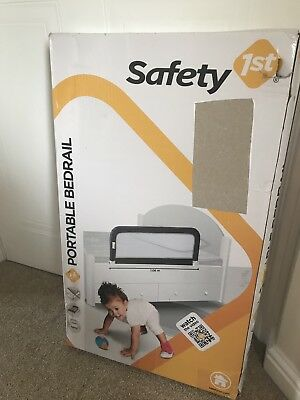 Safety 1st Portable Bed Rail Dark Grey Toddler Baby Compact Bedrail