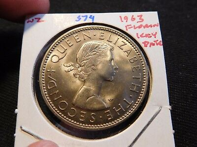INV #S74 New Zealand 1963 Florin Key Date