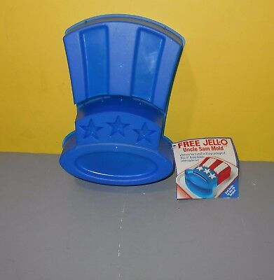 New 2003 Uncle Sam Hat Shaped Jello Mold Blue Patriotic USA July 4th
