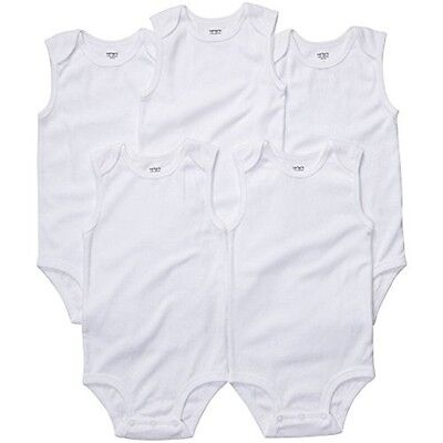 NEW Carter's One Piece Sleeveless Bodysuits 5-Pack WHITE 3 Months