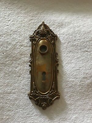 Antique Solid Brass Victorian Door Knob Back Plate Made in India