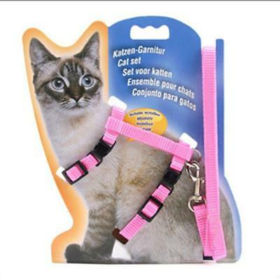 Training Dog Pet Puppy Cat Adjustable Harness Lead Leash Traction Rope Safe LD