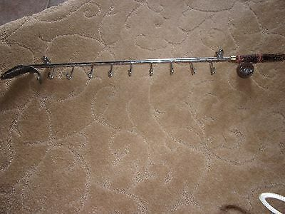 "1/2 Off !! Antique Metal Fishing Pole Tie Rack ""Rare"" Now $50.00"