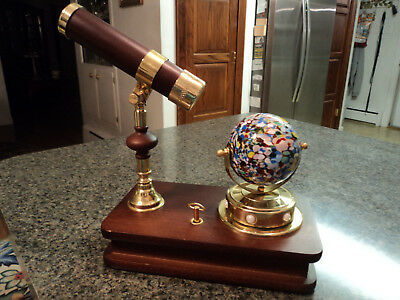 San Francisco Music Box Kaleidscope With Blown Glass Orb