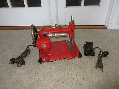 Antique Westinghouse Gimbel Cast Iron Base Red Sewing Machine Rare