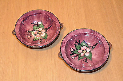 Torquay Pottery Alexandra Rose Dishes pink pair