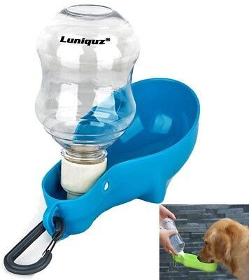 Dog Water Bottle Travel Water Dispenser, Luniquz, Portable Water Feeder With