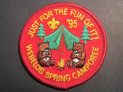 Boy Scouts Webellos Spring Camporee 1995 Just For The Fun Of It! Badge  Patch