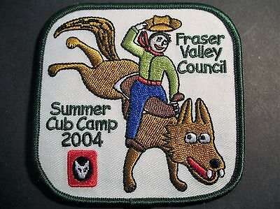 Boy Scouts Canada Fraser Valley Council Summer Cub Camp 2004 Embroidered  Patch