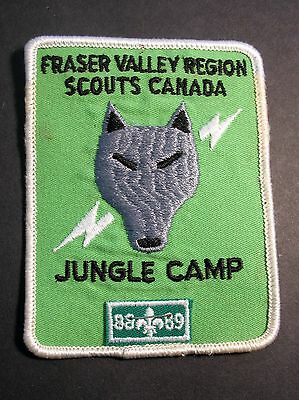 Boy Scouts Canada Jungle Camp 1988 1989 Fraser Valley Region  Badge  Patch